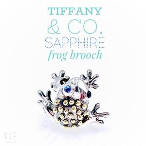 Tiffany & Co. Sapphire Frog Brooch